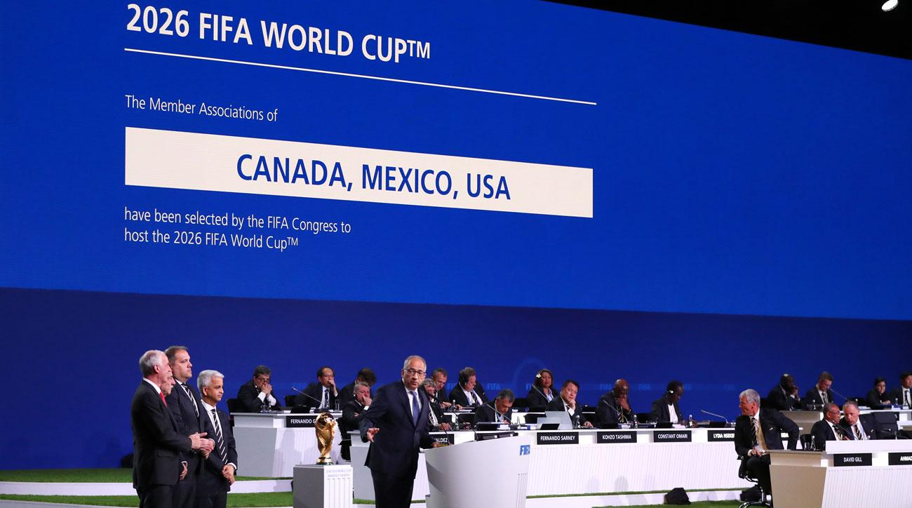 USA, Mexico and Canada will co-host the 2026 World Cup