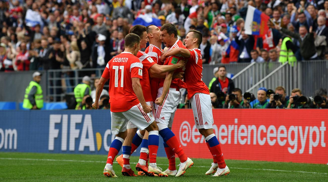 Russia thrashes Saudi Arabia to open the 2018 World Cup