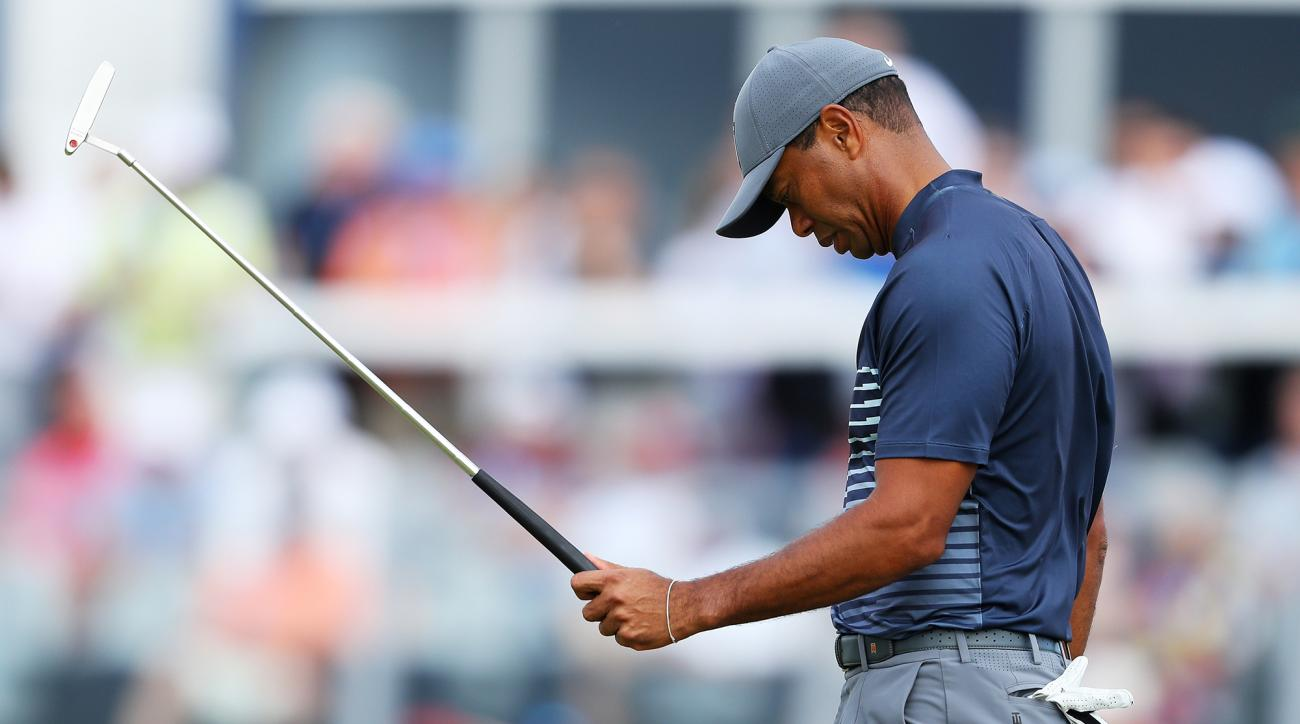 Tiger Woods putting US Open 2018 Shinnecock
