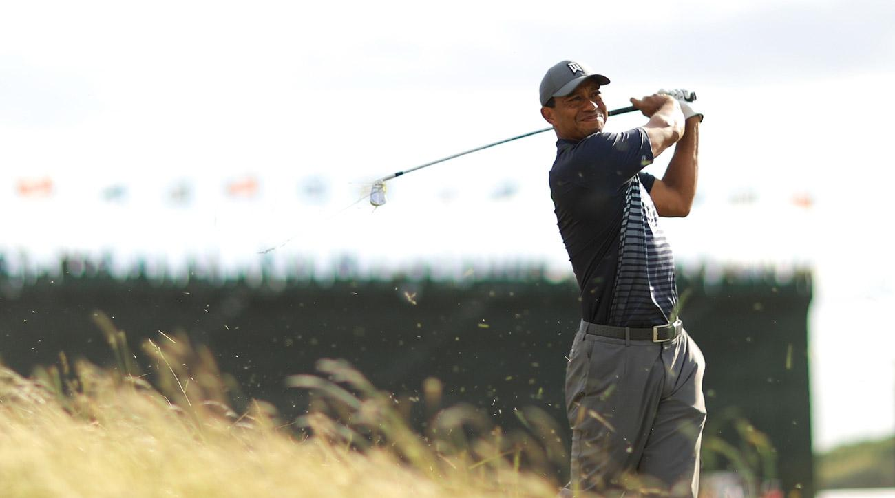 Tiger Woods' second round at the 2018 U.S. Open