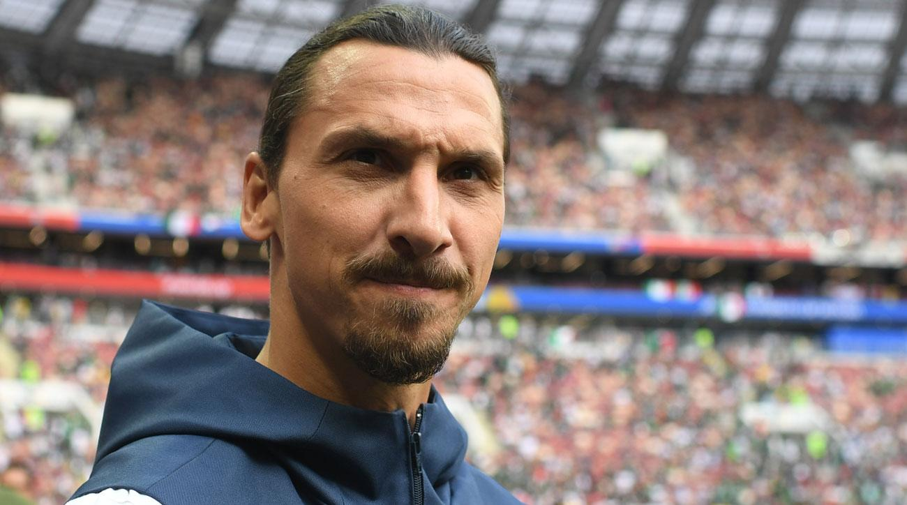Zlatan Ibrahimovic is at the World Cup as part of Visa campaign