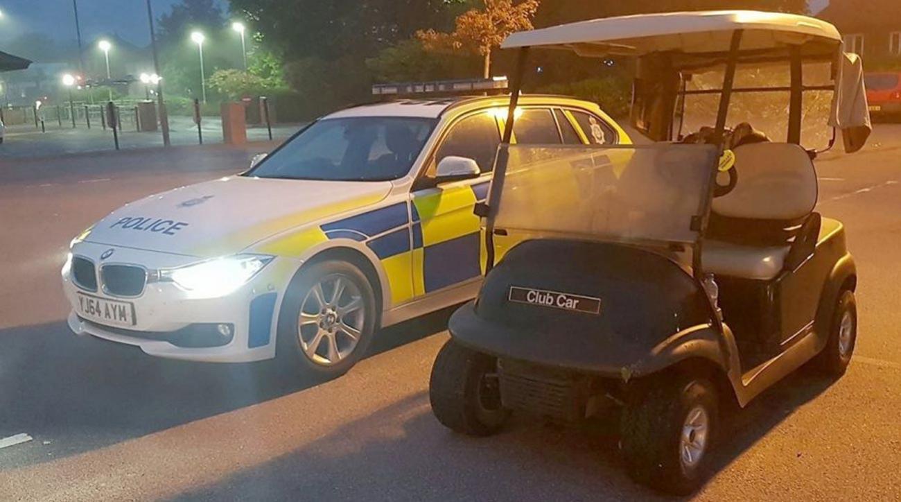 Drunk teen steals golf cart