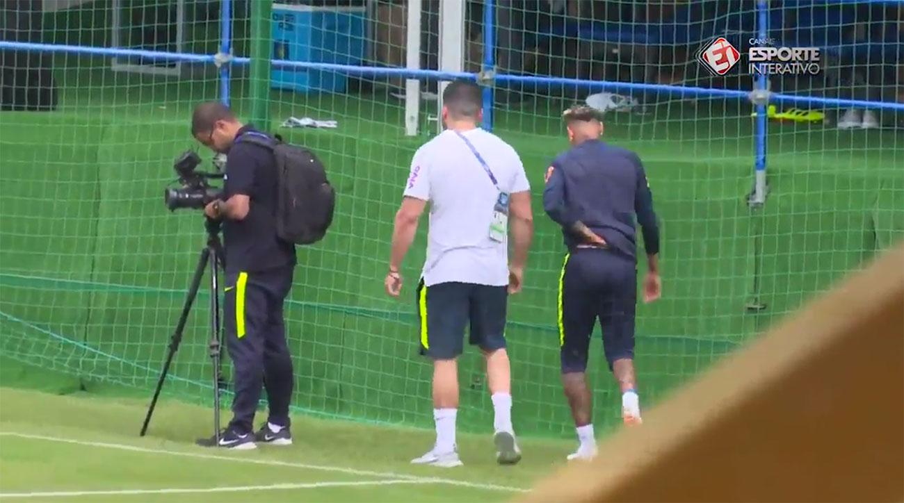Neymar Leaves Practice With Ankle Injury, Expected To Train Before Costa Rica Match