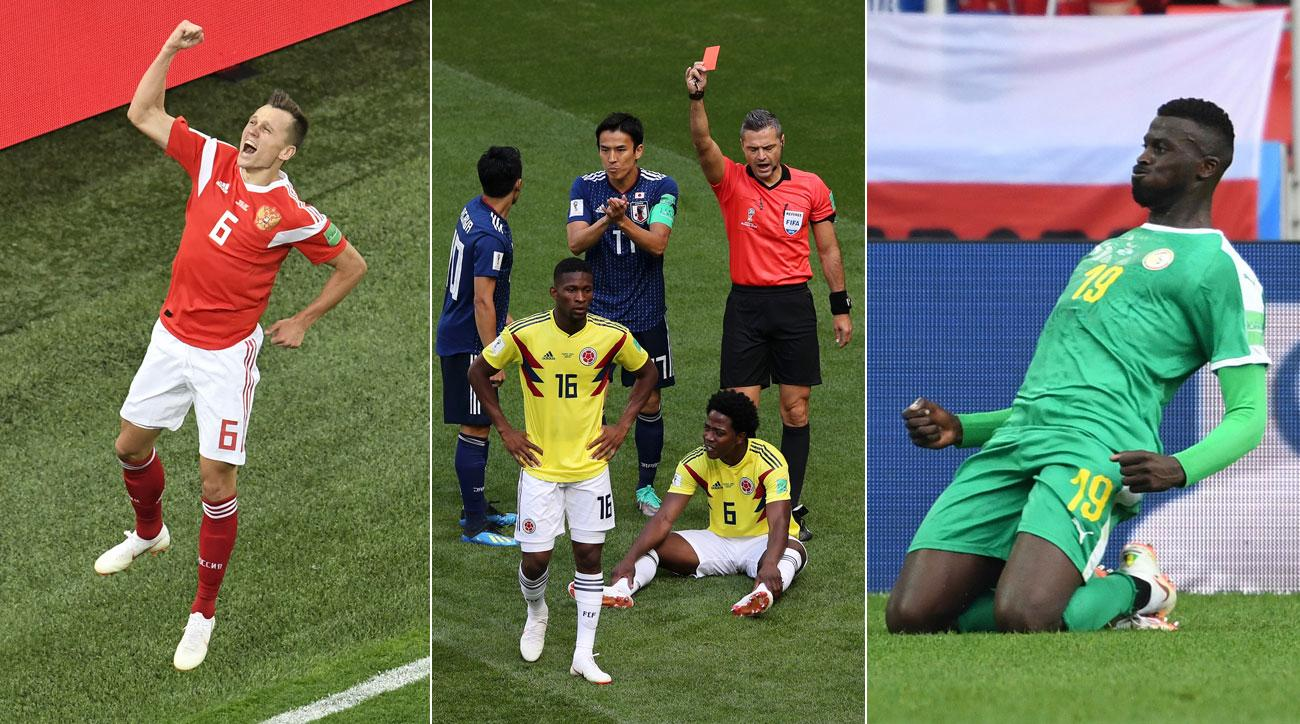 Russia, Japan and Senegal were all winners at the World Cup
