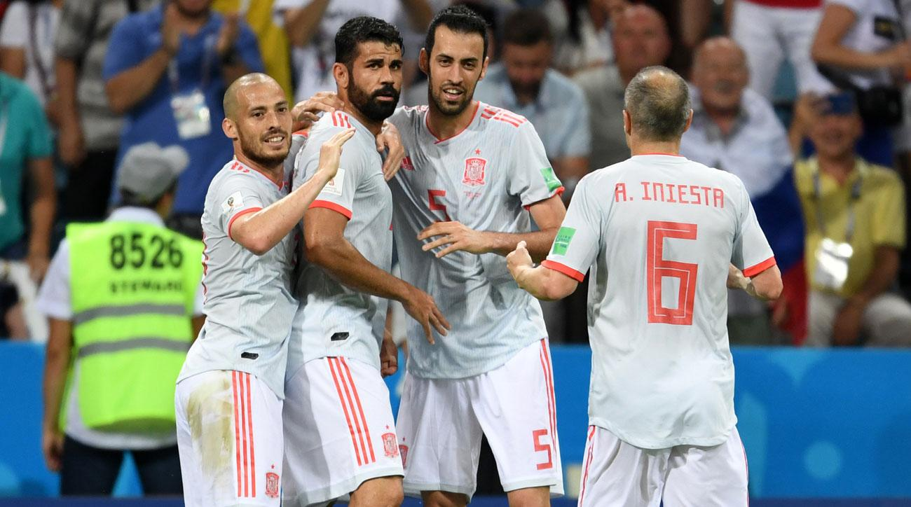 Spain faces Iran in a World Cup group stage game