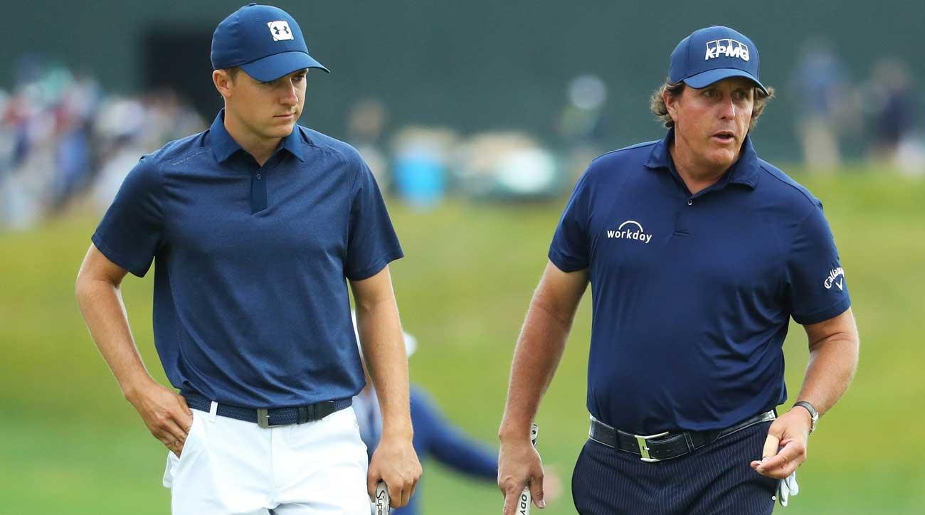 """Phil knows the rules,"" Spieth said. ""He's playing the best score he can."""