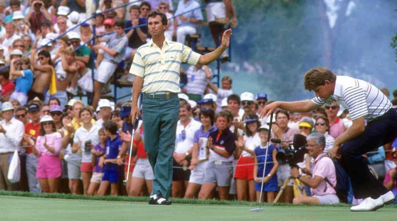 Hubert Green at the 1985 PGA Championship, which he won for his second career major title.