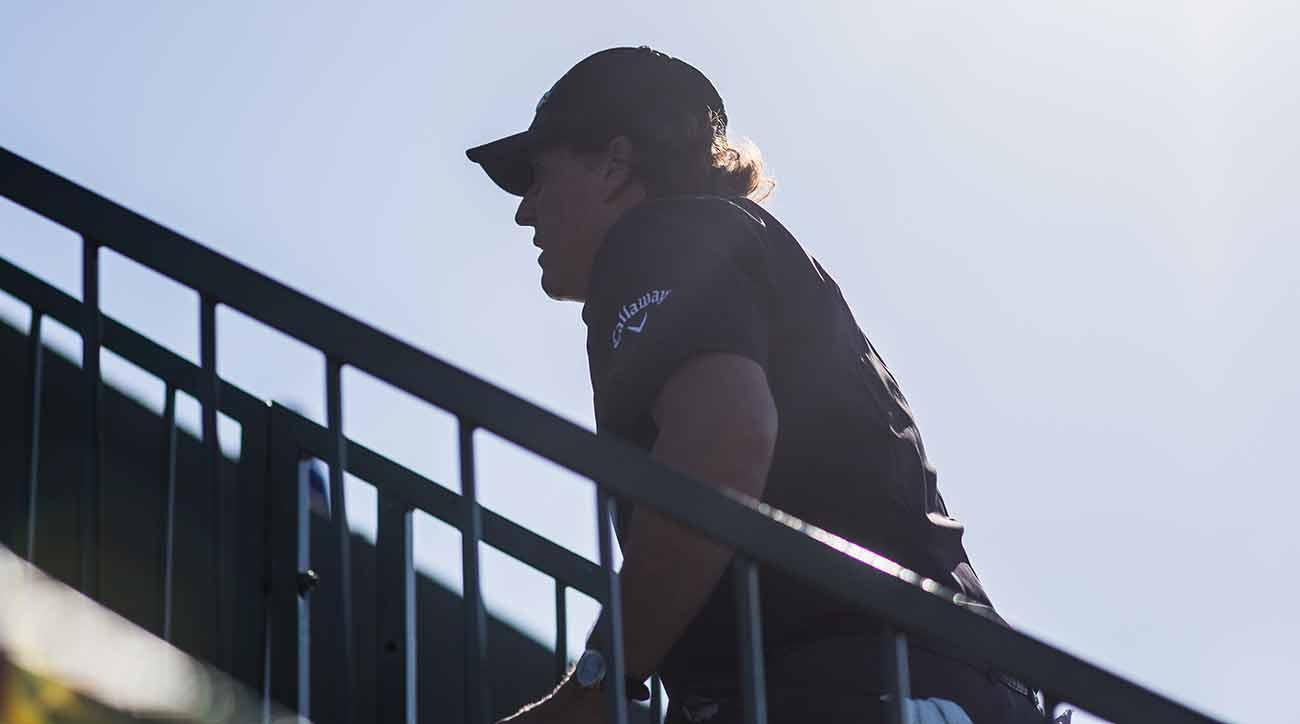 Mickelson apologized for his actions Wednesday morning.