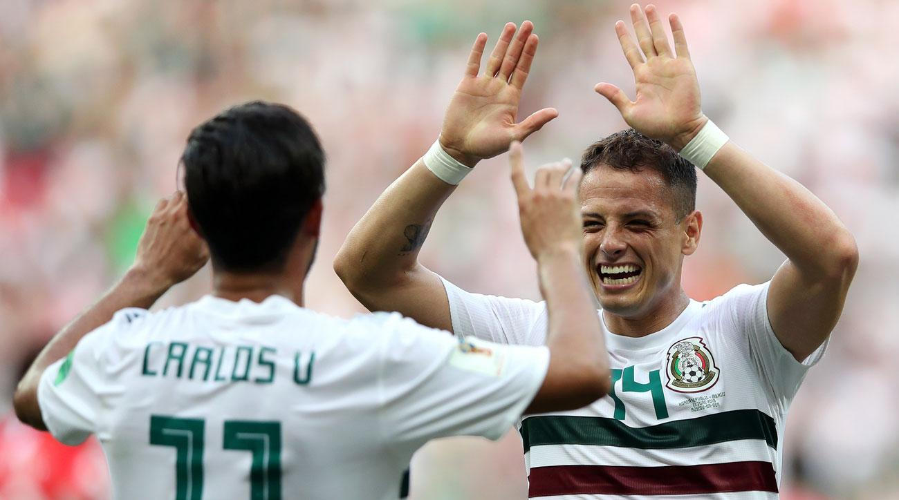Carlos Vela and Javier Hernandez score for Mexico vs. South Korea in the World Cup