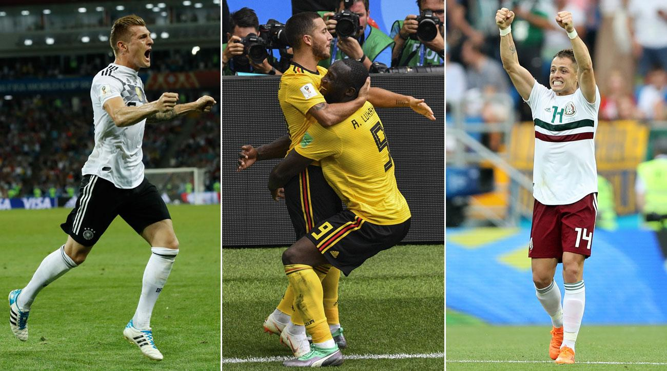 Germany, Belgium and Mexico all win at the World Cup