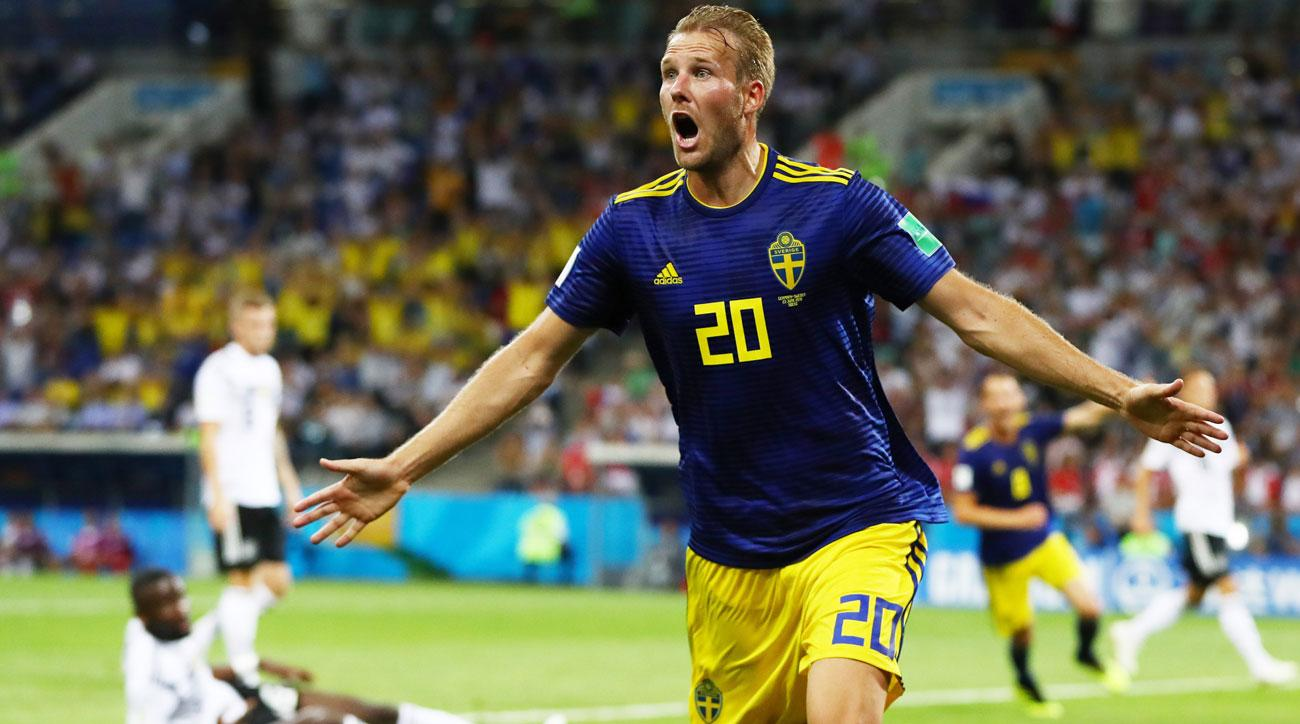 Sweden scores vs. Germany in the World Cup