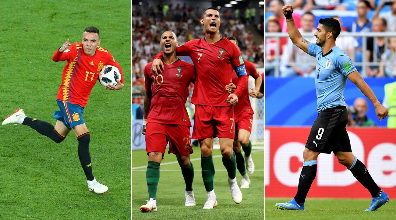 Spain, Portugal and Uruguay are through to the knockout stage of the World Cup