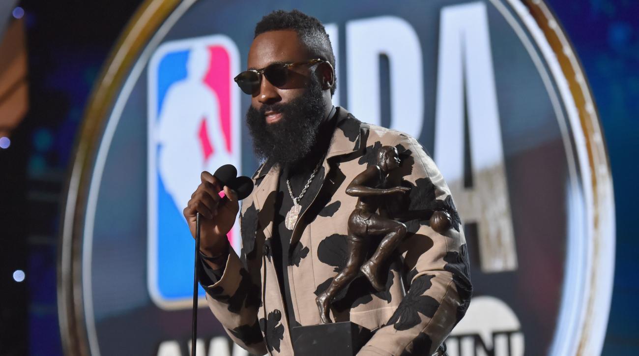 0d9e8f37e7e NBA Awards  James Harden Reflects on Steady Climb to First MVP