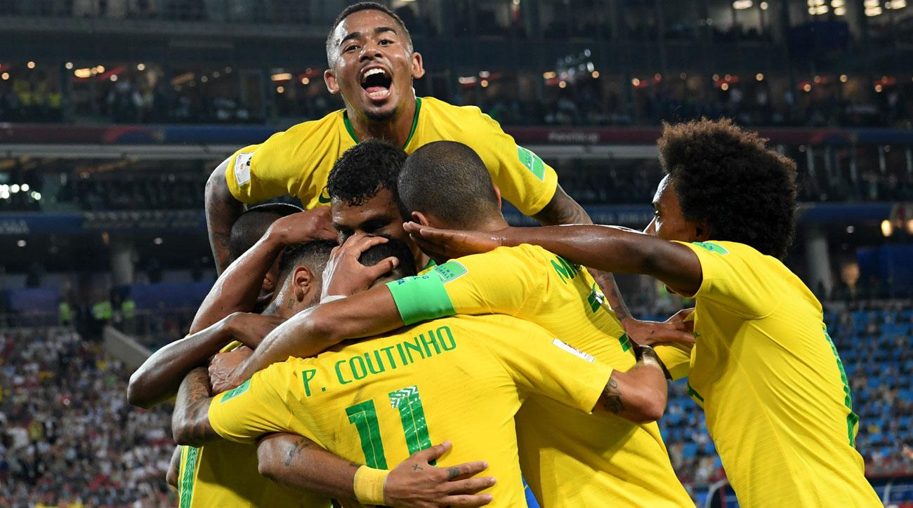 Brazil beats Serbia to win its World Cup group