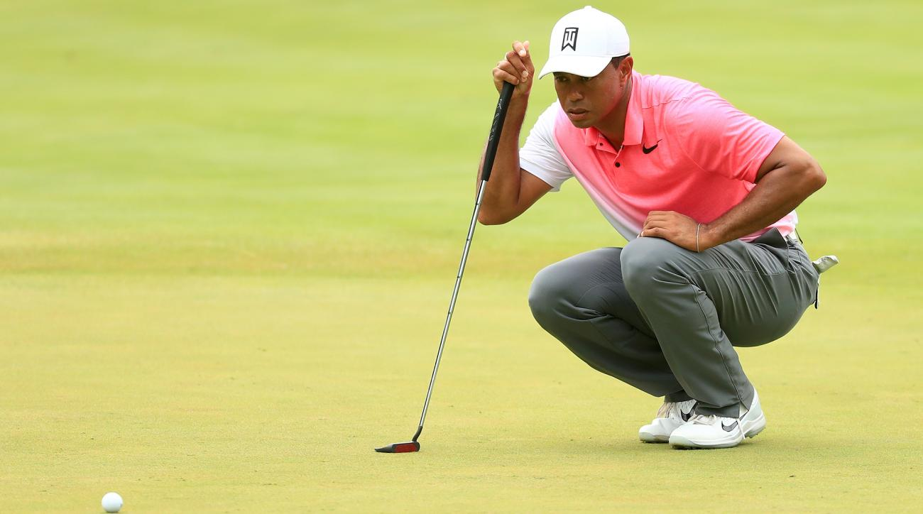 Tiger Woods score quicken loans national