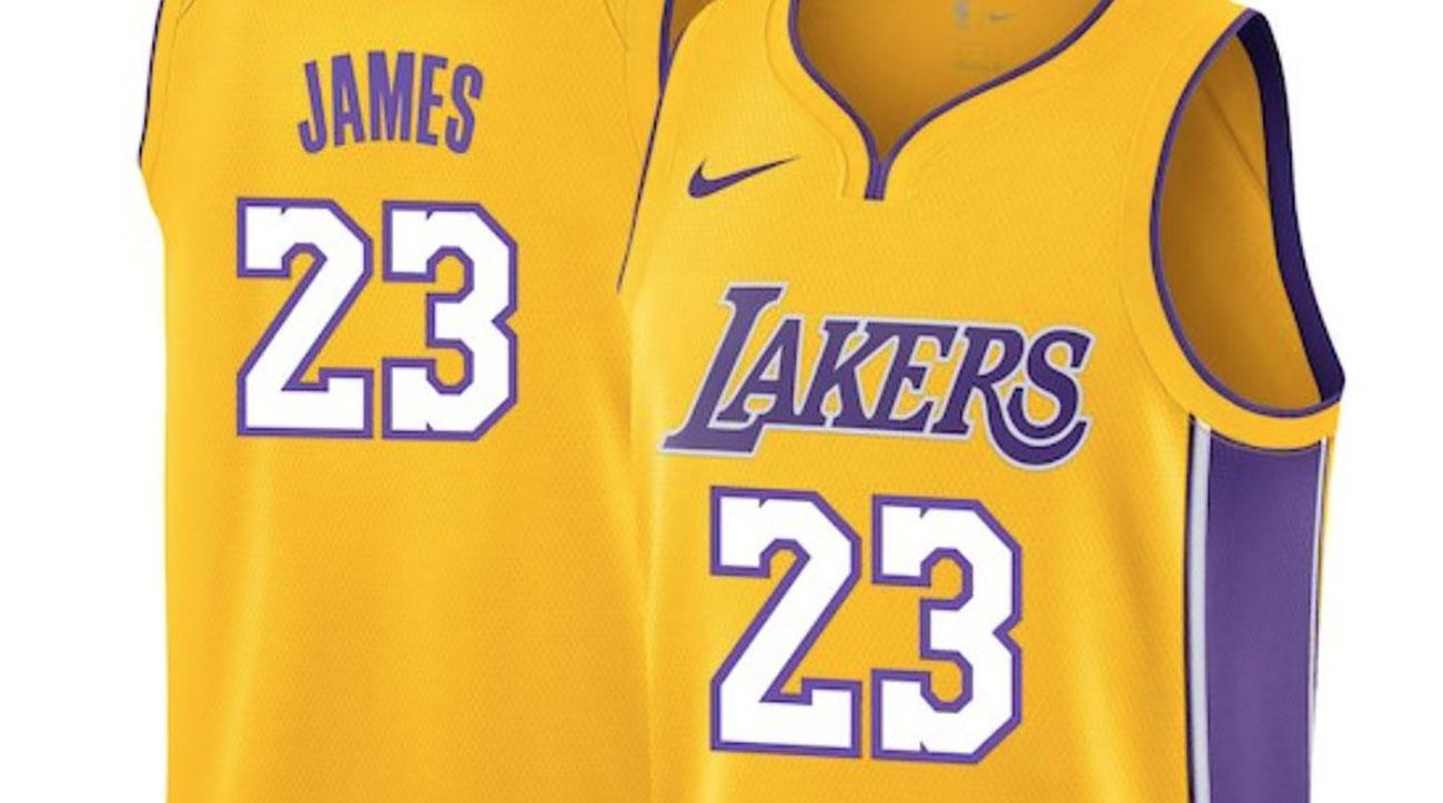 outlet store sale 6f953 04855 LeBron James Lakers jersey number: Star chooses 23 | SI.com