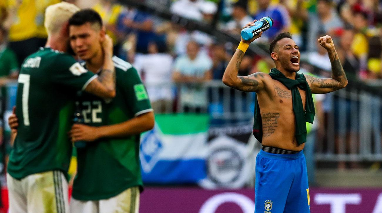 Brazil is through to the World Cup quarterfinals, while Mexico is out at the round of 16 again