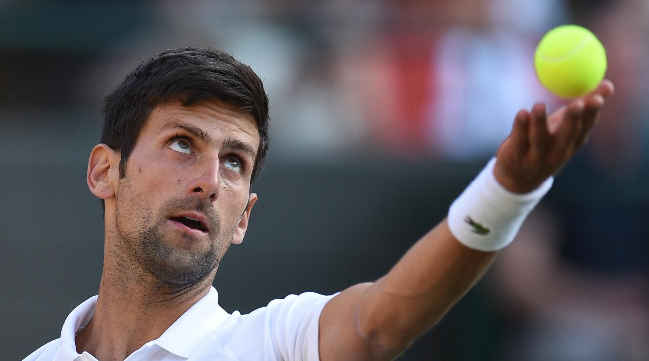 Wimbledon day two novak djokovic tennys sandgren