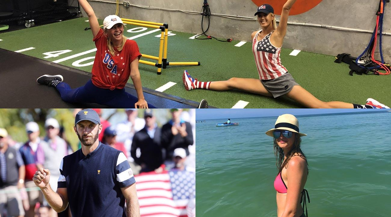 Michelle Wie celebrates 4th of July, PGA and LPGA stars