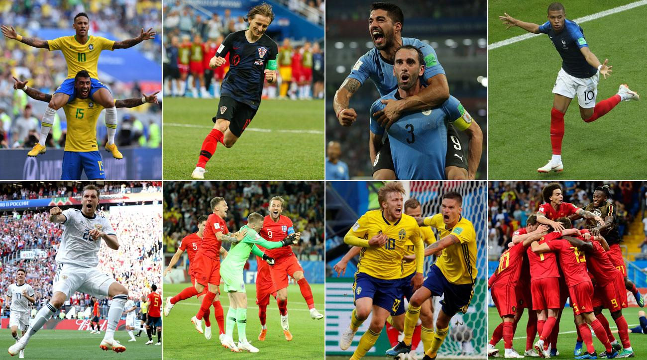 The World Cup is down to its quarterfinalists