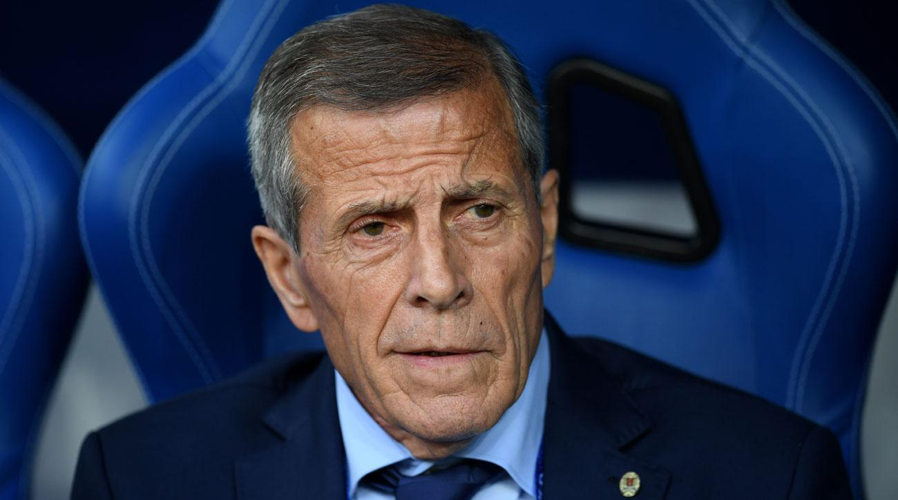 Oscar Tabarez is Uruguay's longtime manager