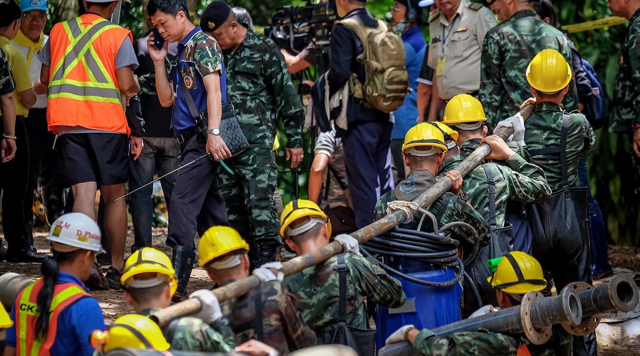 Thai soccer team, thai soccer team cave rescue, thailand, Tham Luang Nang Non
