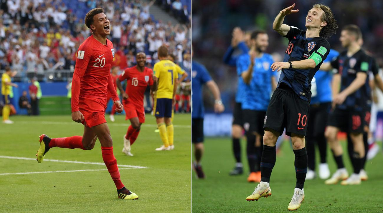 Dele Alli and Luka Modric have helped England and Croatia reach the World Cup semifinals