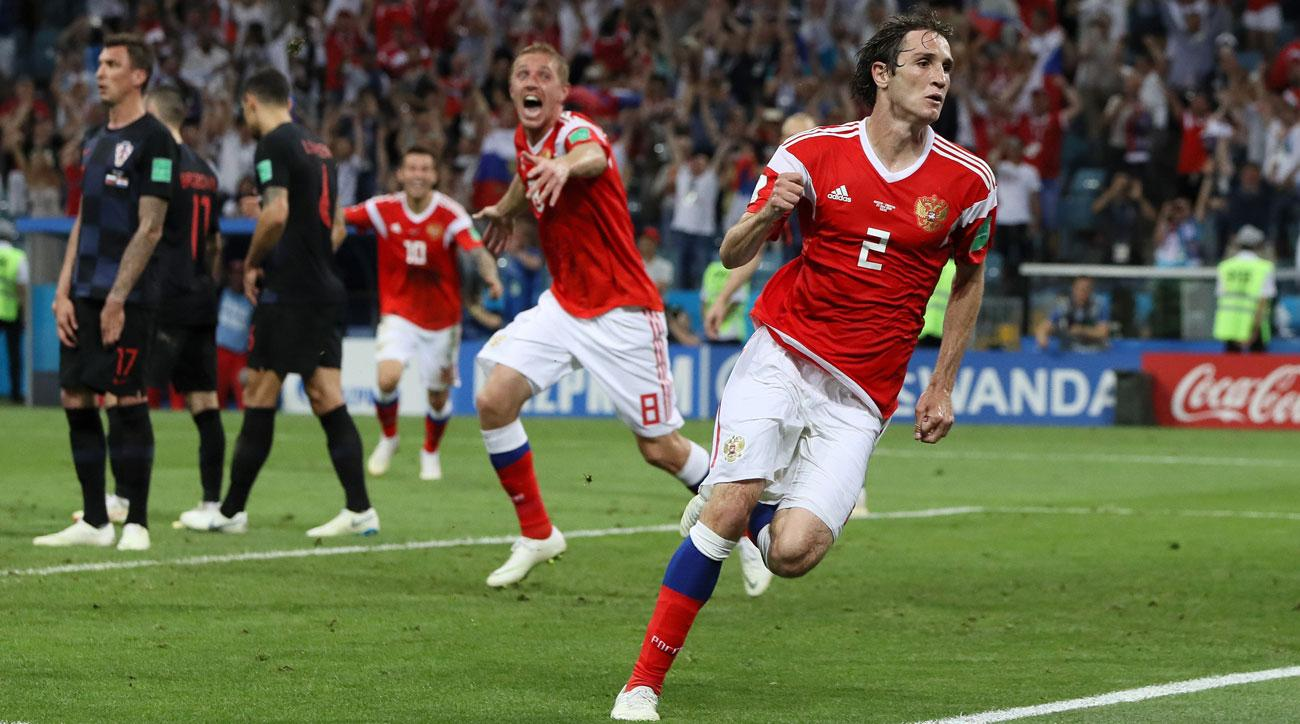 Melhor Aparador Corporal ~ Mario Fernandes goal video Russia forces shootout vs Croatia SI com