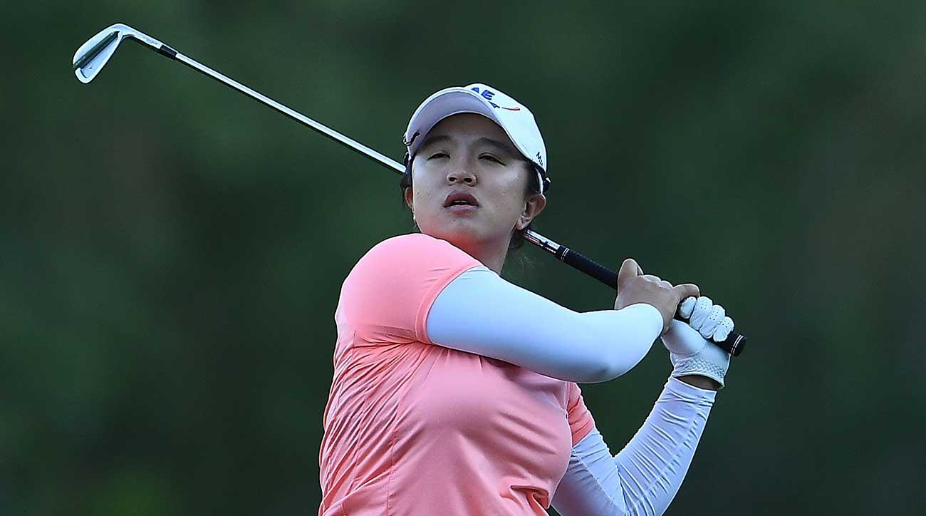 Sei Young Kim watches a shot during the Thornberry Creek LPGA Classic at Thornberry Creek.