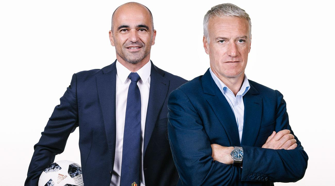 Roberto Martinez and Didier Deschamps coach Belgium and France in the World Cup semifinals