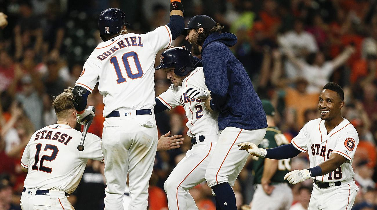 Astros win with weird walkoff - a three-foot squibber