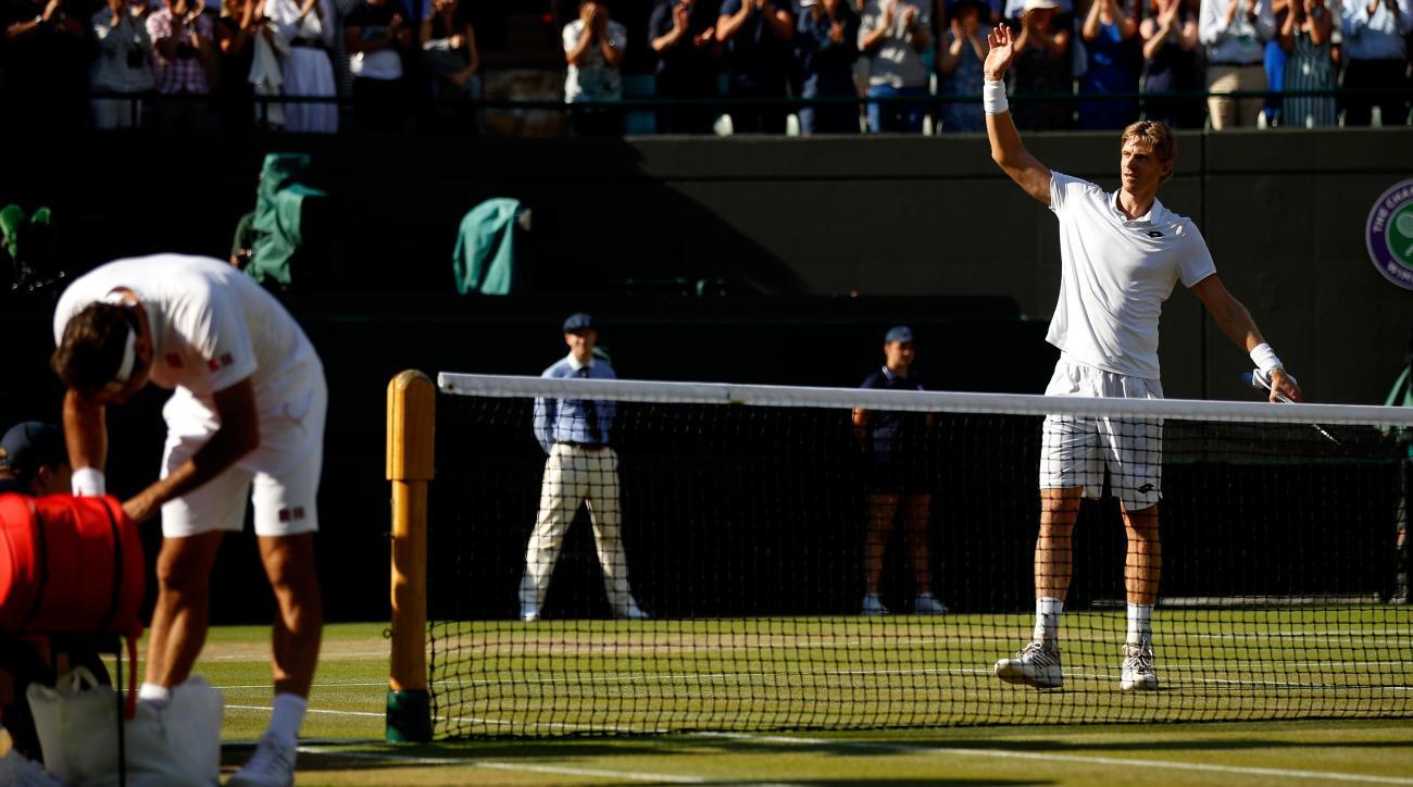 Wimbledon quarterfinals roger federer kevin anderson