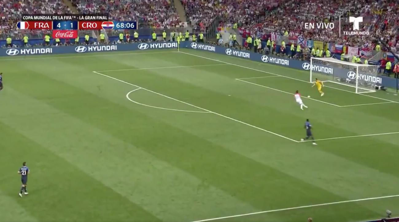 France gives up bad goal to Croatia