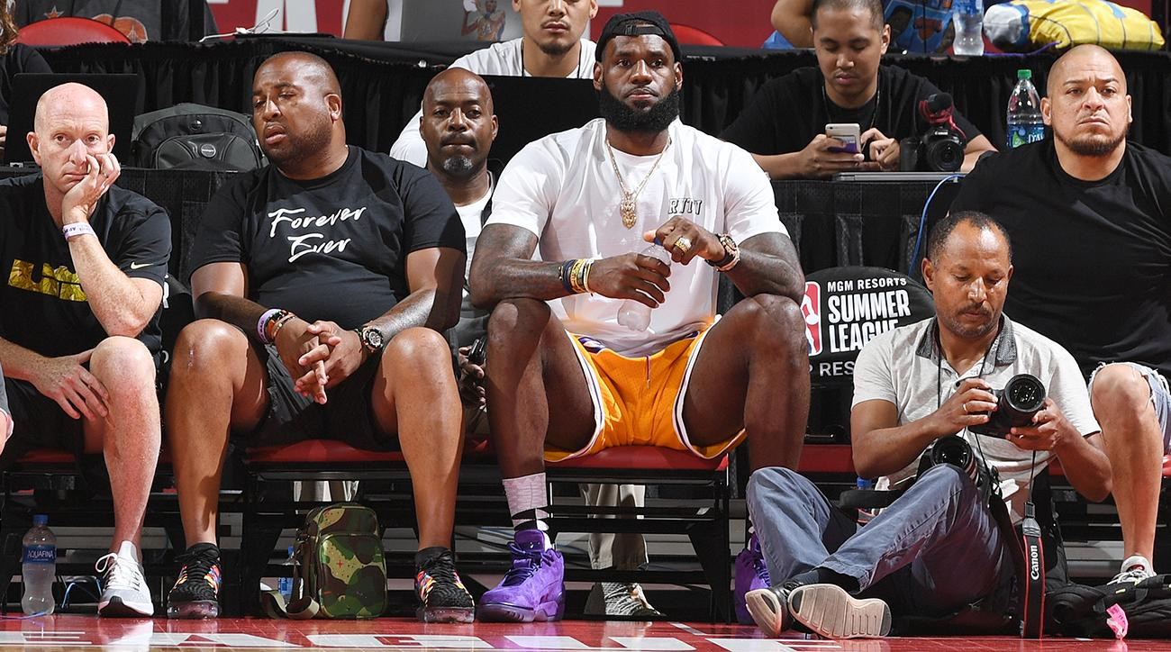 b2f6a8abe4c LeBron James Watches Lakers Beat Pistons in Vegas Summer League