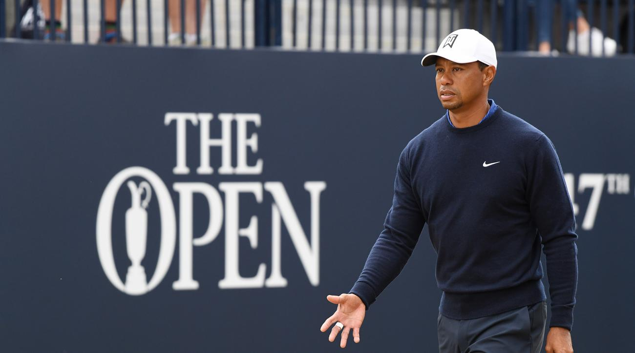 British Open Championship Carnoustie live blog tiger woods tracker