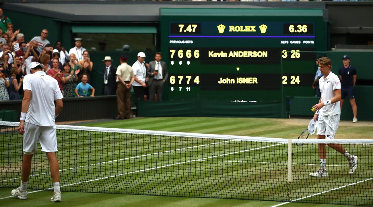 John Isner Kevin Anderson Wimbledon 26-24 six hour match