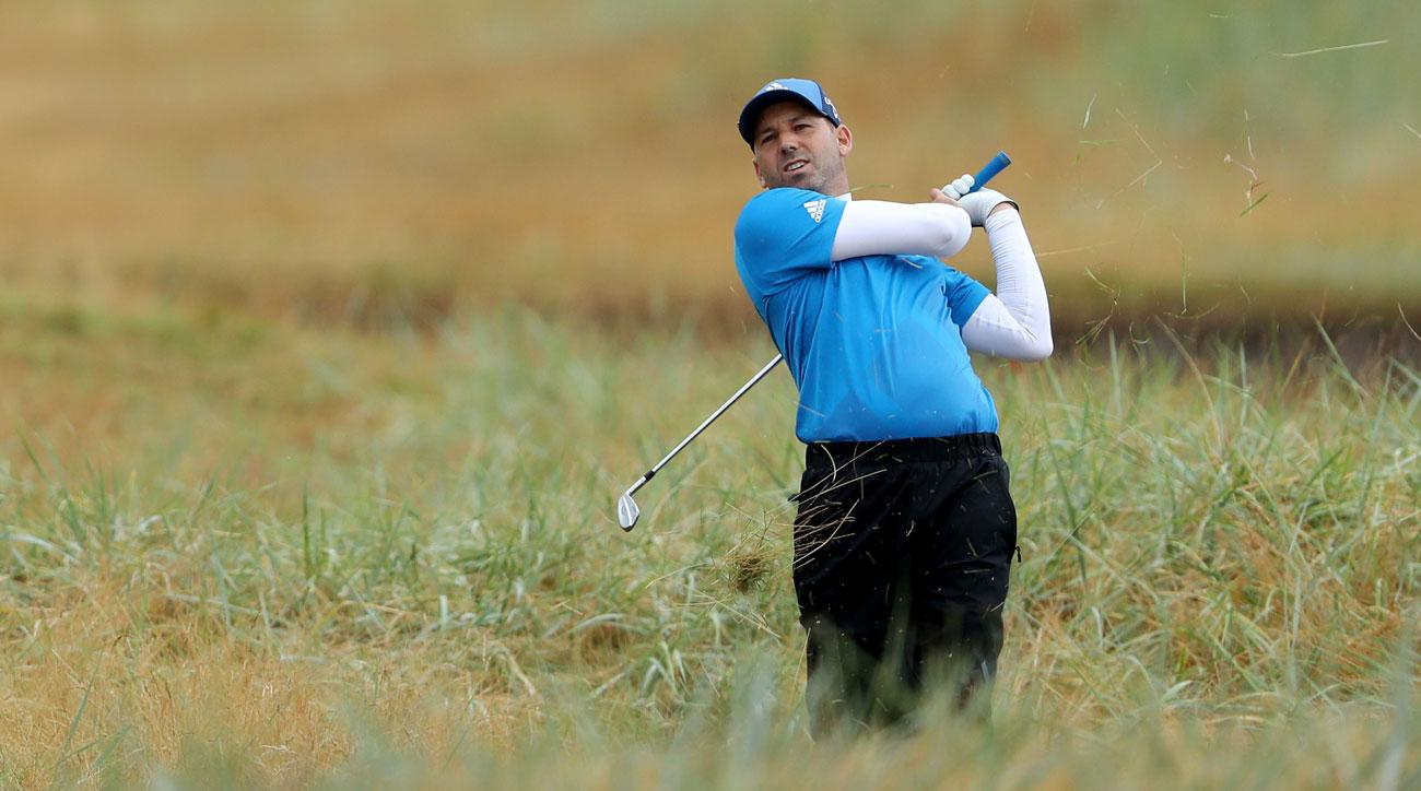 Sergio was just one of many players who fell off the cut line in the final three holes at Carnoustie.