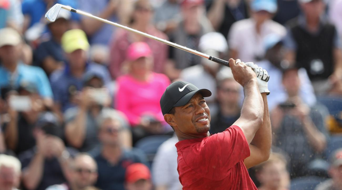 tiger woods shows perspective in british open comeback