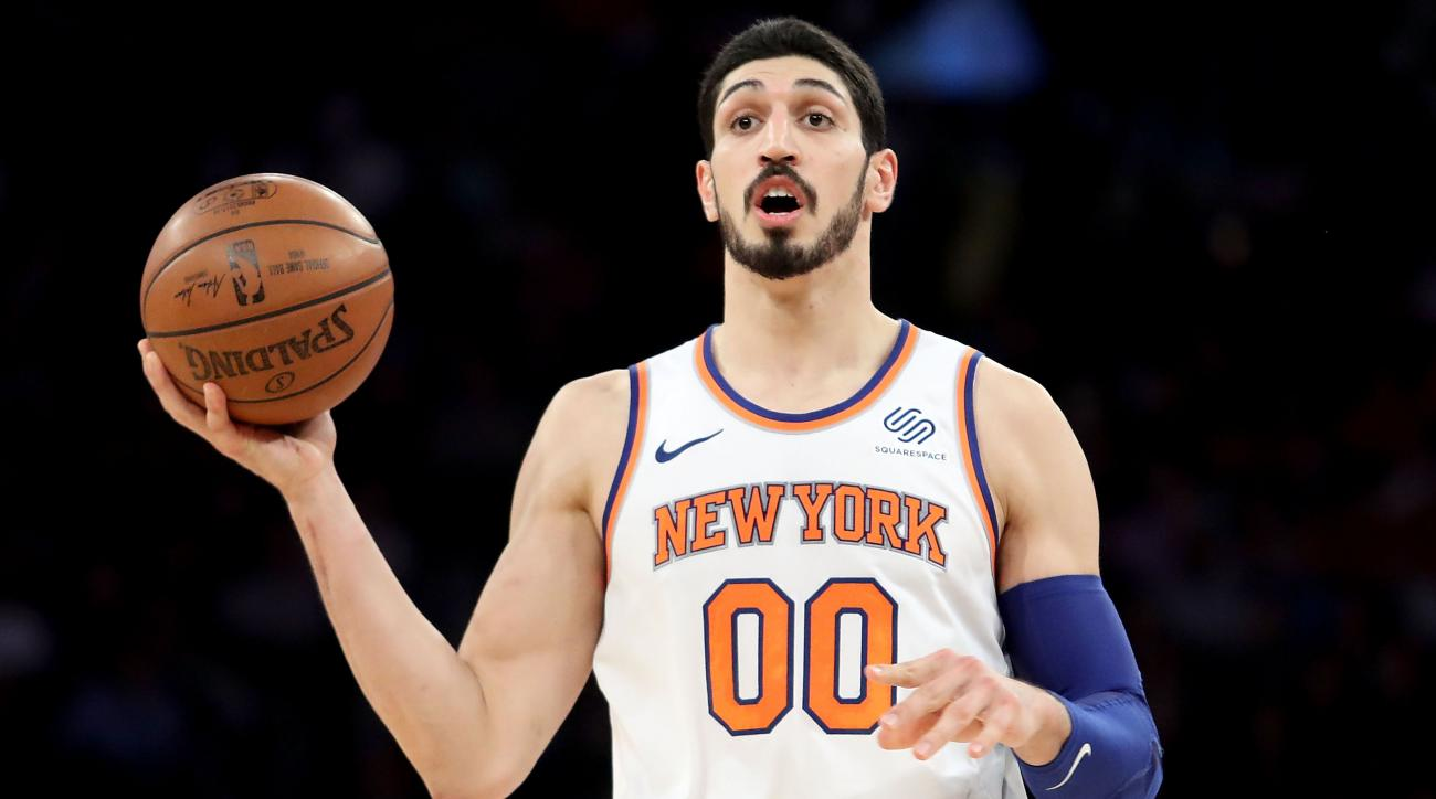 newest 36941 0f9b3 Knicks' Enes Kanter learned English with Spongebob, Jersey ...