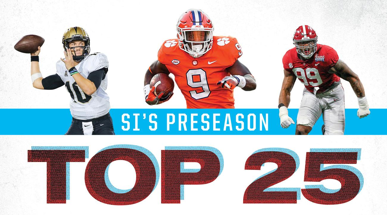 College football Top 25: Clemson, Alabama lead 2018 preseason rankings