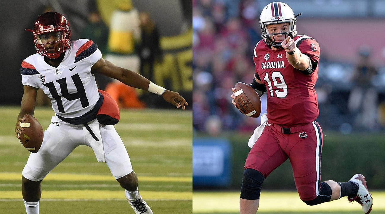 Arizona QB Khalil Tate and South Carolina QB Jake Bentley