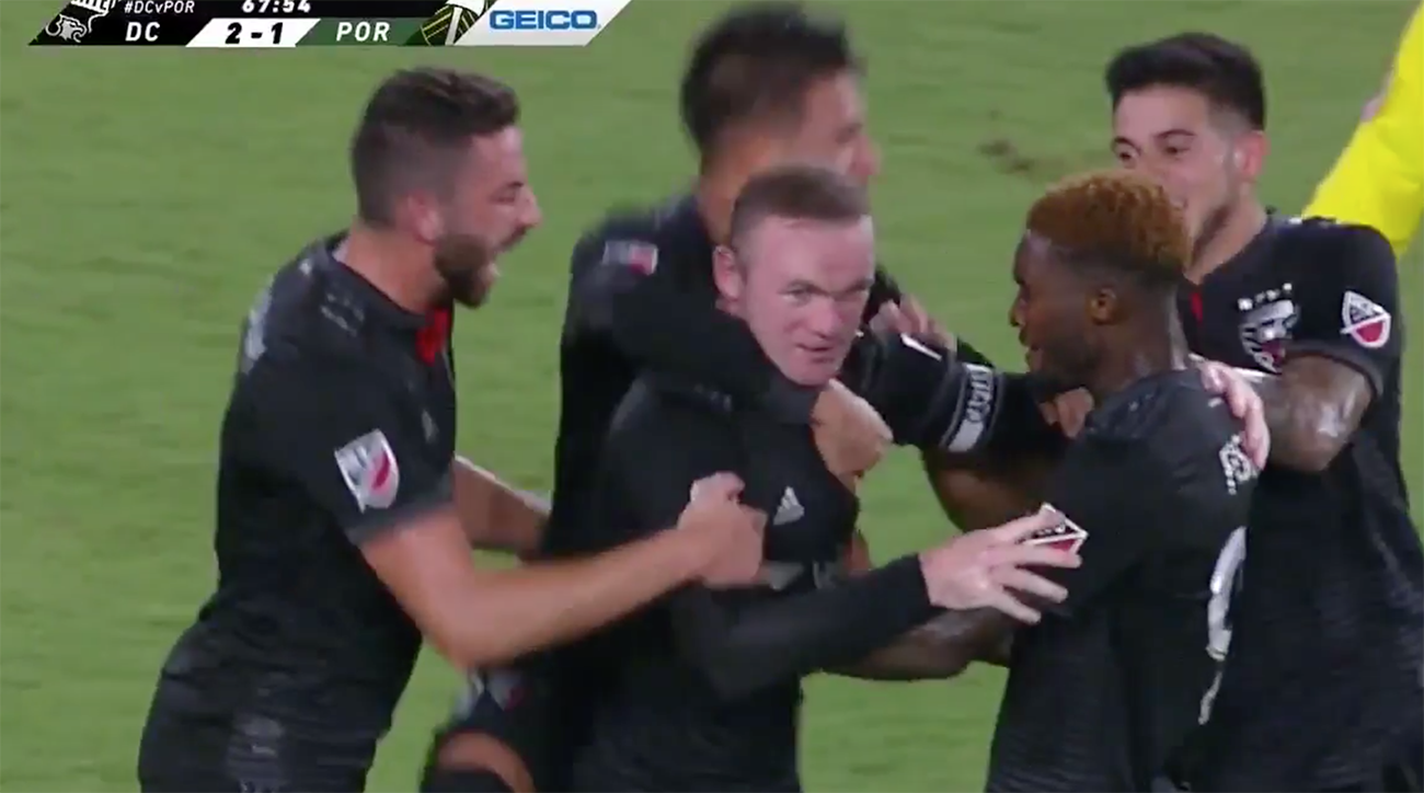 Rooney strikes twice as DC down Portland 4-1