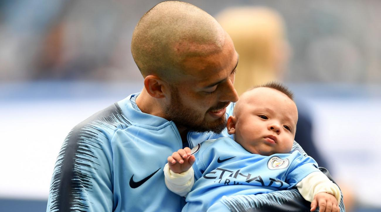 David Silva and his son Mateo
