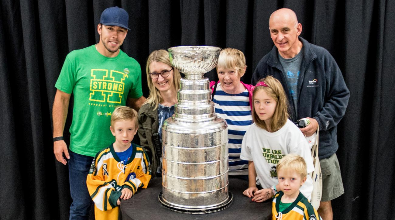 Chandler Stephenson Of The Washington Capitals Takes The Stanley Cup To Humboldt Hockey Day
