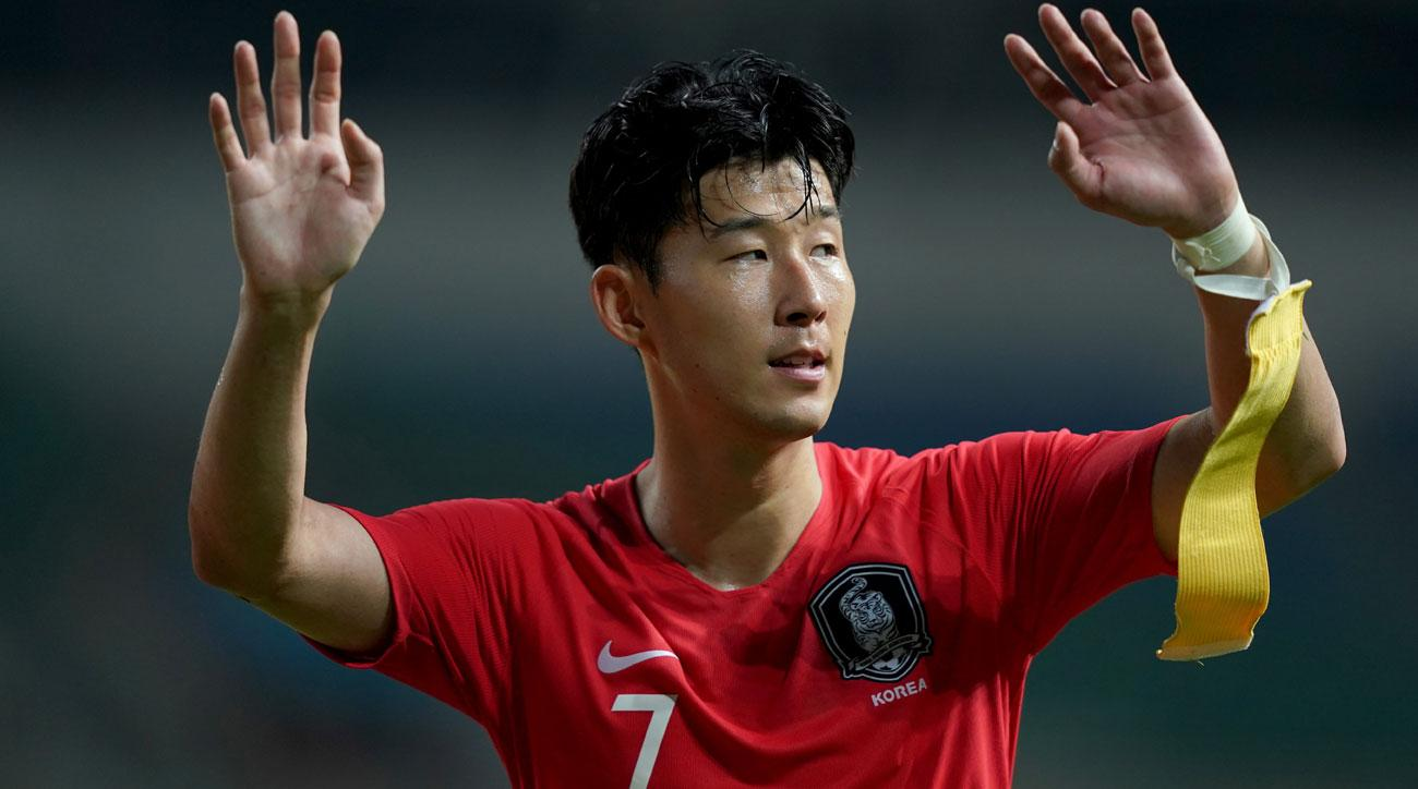 Son Heung-min is leading South Korea in the Asian Games