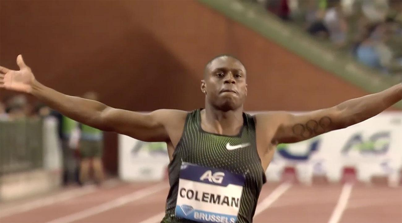 christian coleman 100 meters diamond league