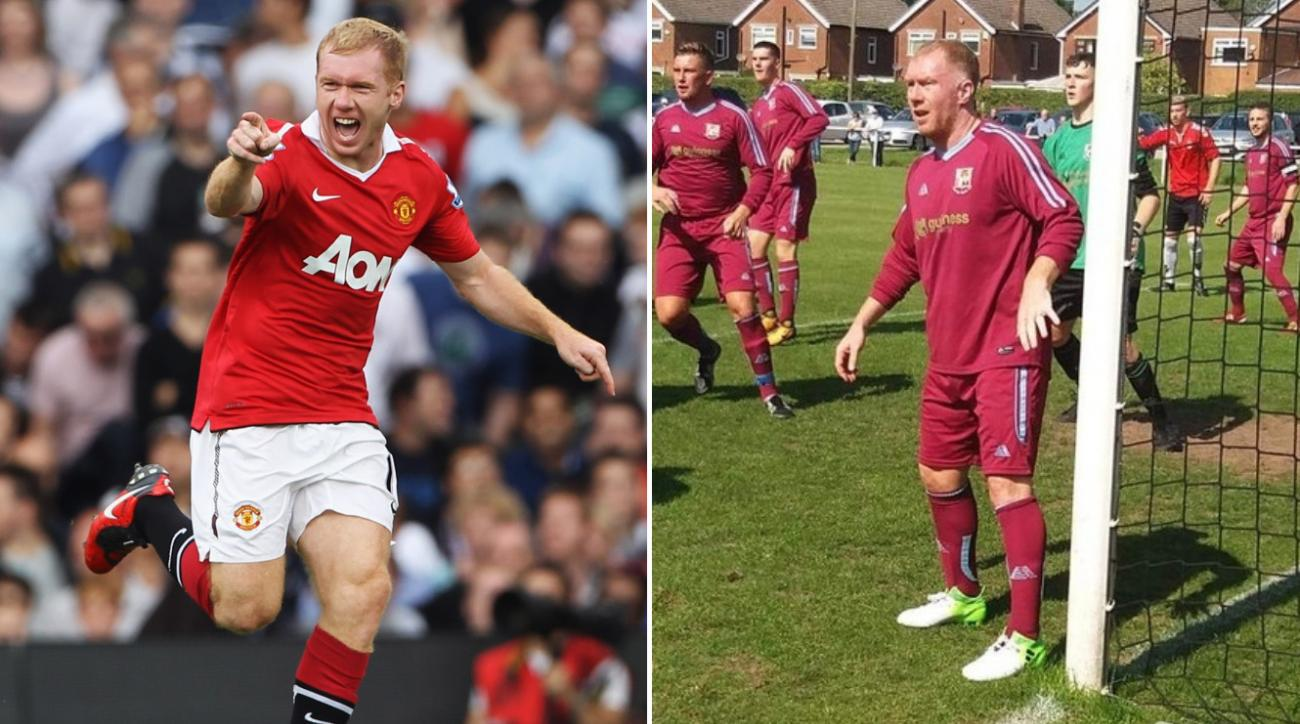 d1b2465bd Paul Scholes  Manchester United icon plays for Royton Town