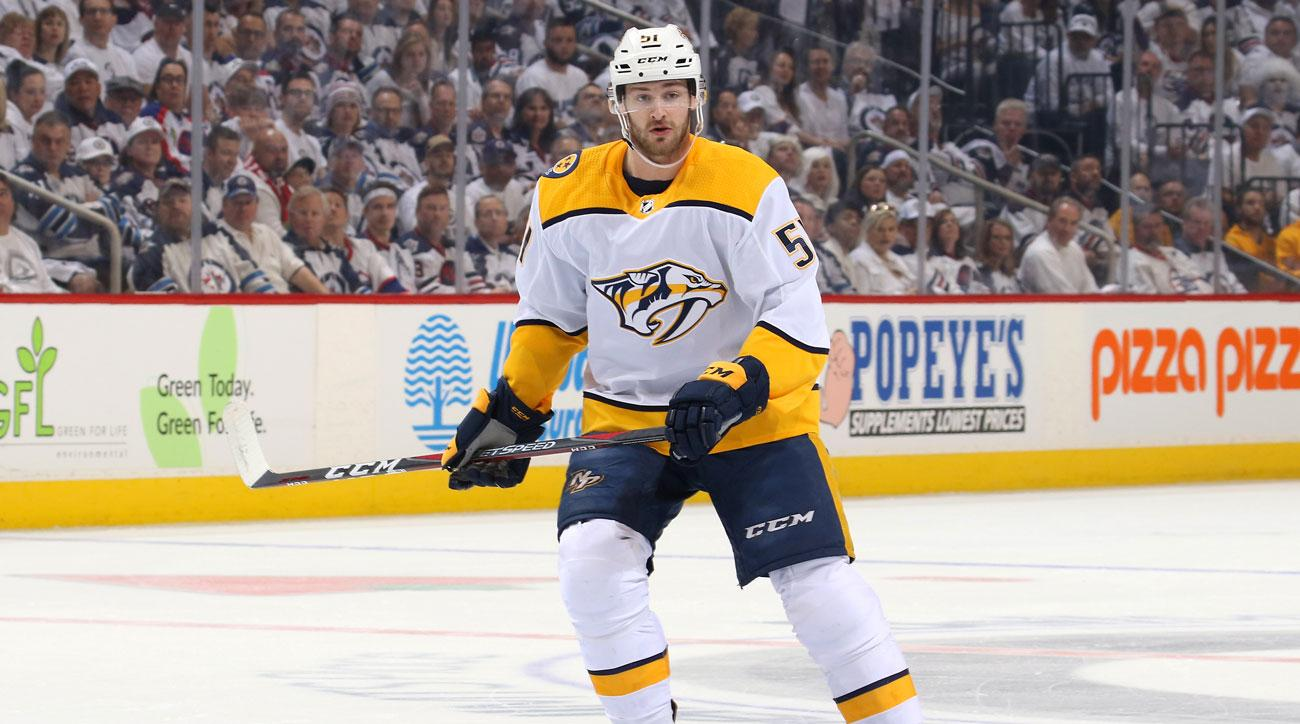 Predators' Austin Watson suspended 27 games for domestic assault