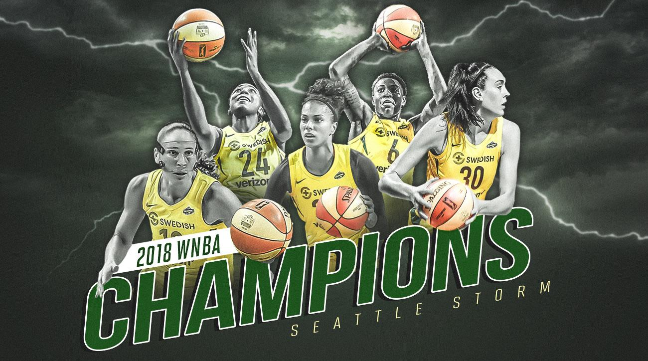 Stewart, Storm sweep Mystics for WNBA title