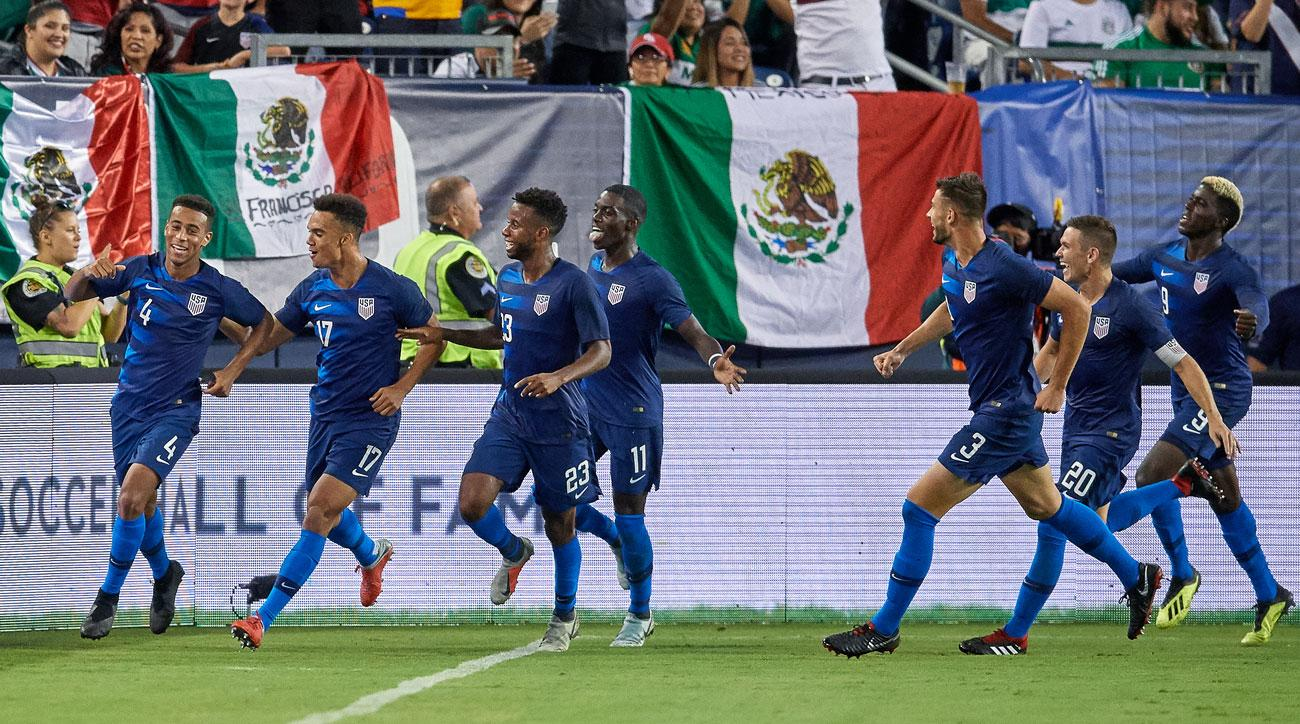The USA beat Mexico 1-0 in a friendly